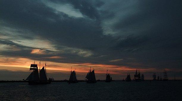 Sailboat, Chandler Motion, Warnemunde, Sea, Ocean, Ship