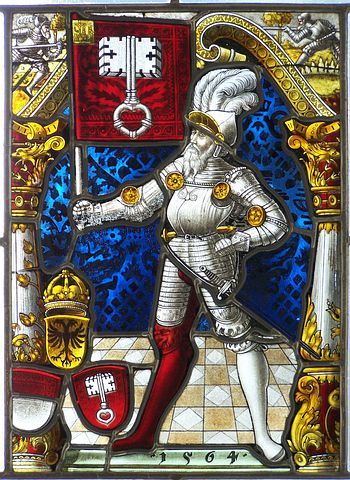 Knight, Ritterruestung, Armor, Stained Glass