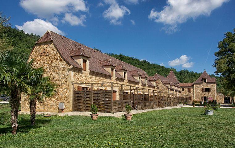 Dordogne, France, Guest Cottages, Sky, Clouds, Stone
