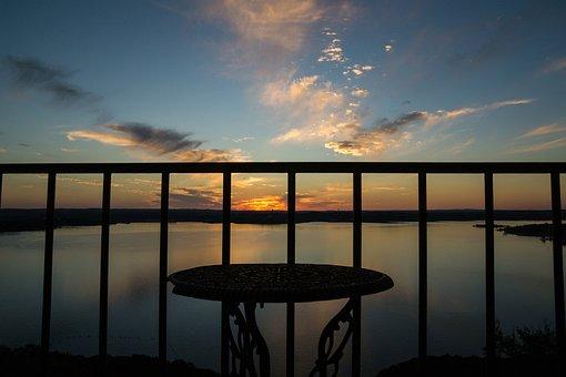 Lake Travis, Austin Texas, Sunset, Balcony, Water