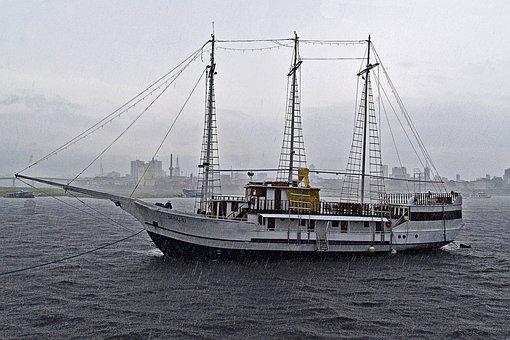Tern Schooner, Ship, Boat, Amazon, Brazil, Rainy, Water