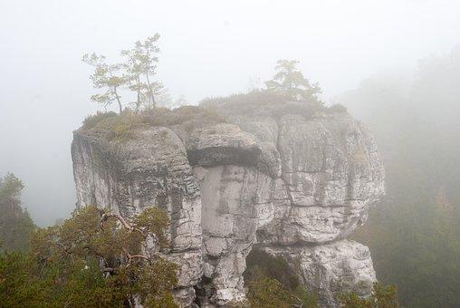 Plein Air, Rocks, The Fog
