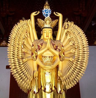 Thousand, Armed, Avalokitasvara, Dharma, China, Statue