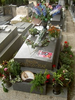 Edith Piaf, Tomb, Peace, Cemetery, Monument, Flowers