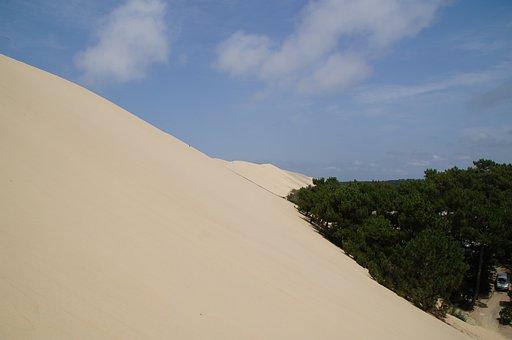 Grande, Dune, You, Pilat, Sand Dune, France, Ocean
