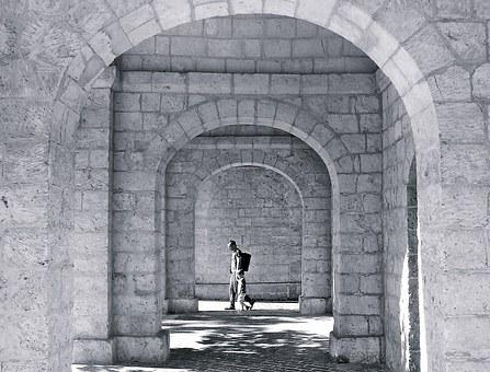 Mystery, Mysterious, Arch, Arches, Stone Arch, Walking