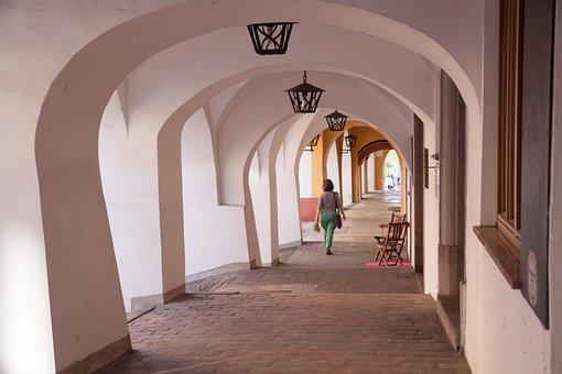 Arches, City, Homes, Arcades, Renaissance, Architecture