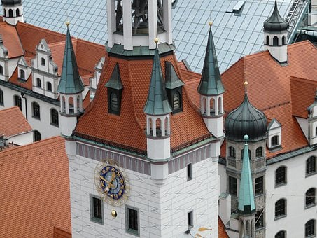 Tower, Spires, Town Hall, Old, Building, Munich