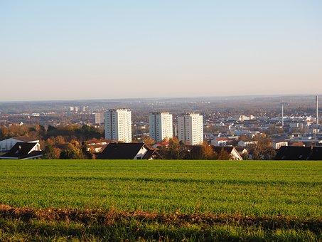 Ulm, City, Skyscrapers, Panorama Trail, Höhenweg
