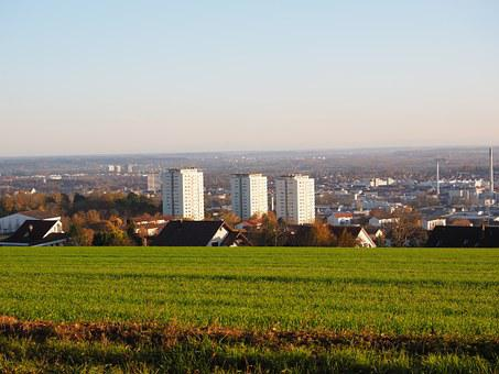 Ulm, City, Skyscrapers, Panorama Trail, Höhenweg