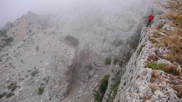 Hiking, Mountains, Mountains Of Alicante, Cliffs