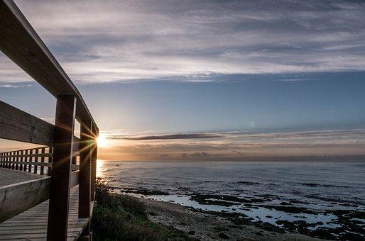 Dawn, Clouds, Sky, Sunset, Horizon, Sea, Awakening