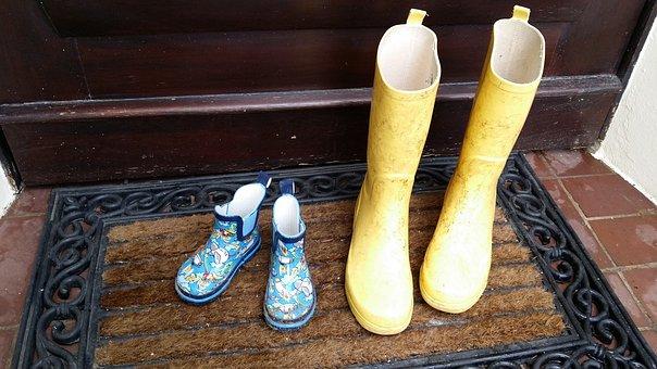 Rubber Boots, Children, Sand Beach, Friesennerz, Coast