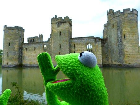 Kermit, Frog, Fun, Castle, Wasserburg