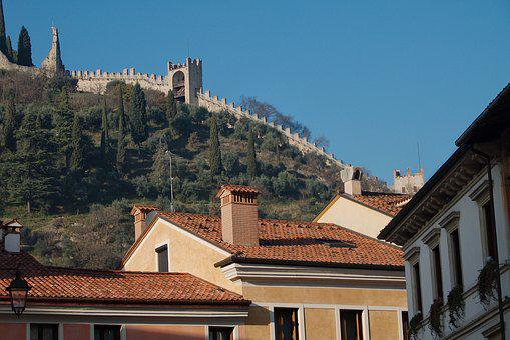 Marostica, Veneto, Italy, Vicenza, City, Walls