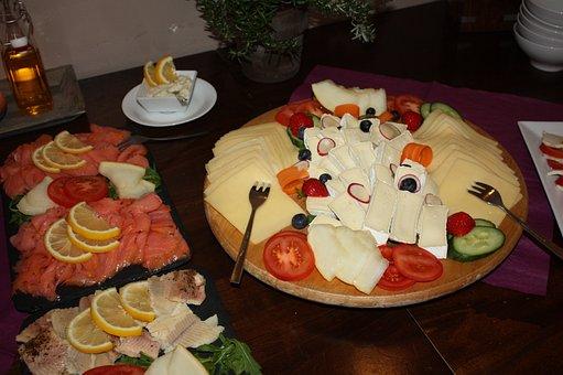 Käseplatte, Salmon, Fish Plates