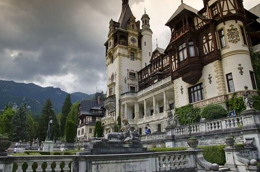 Peles Castle, Sinaia, Romania, Mountains, Monument