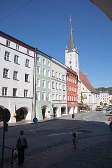 Wasserburg, Old Town, Steeple, Church, Mother, Shopping
