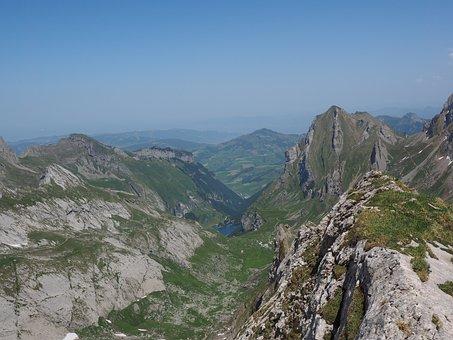 Marwees, Mountains, Alpine, Säntis Region, Seealpsee