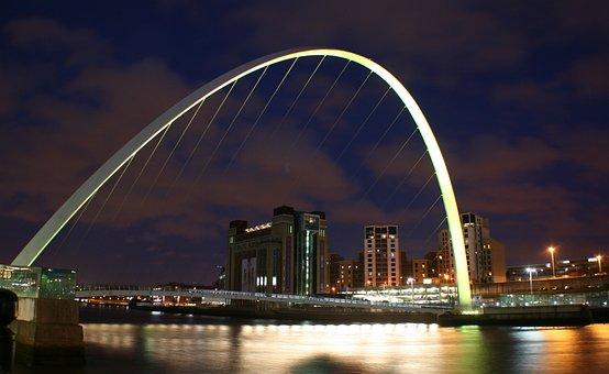 Newcastle, Millenium, Bridge, Flour Mill, Baltic