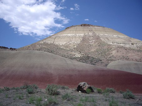 Mountain, Hill, Red, Rock, Outdoor, Travel, Dry, Barren