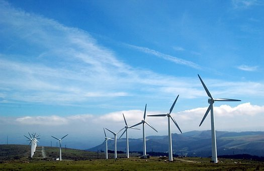 Cape Ortegal, Galicia, Windmills, Renewable Energy