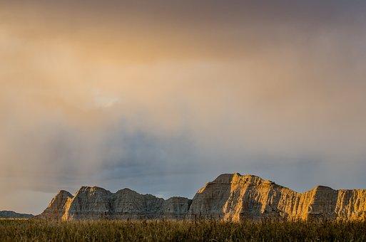 Badlands, Rock Formations, South Dakota, National Park