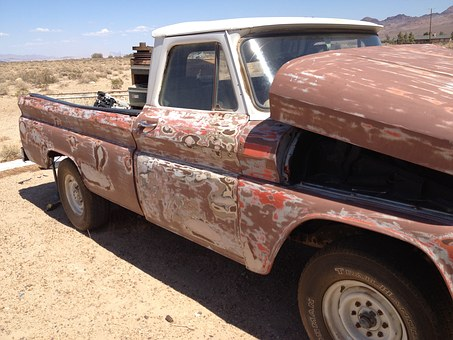 Chevy Pickup, Old, Antique, Exposed, Rustic
