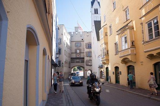 Old Town, Wasserburg, City Gate, Clock Tower, Steeple