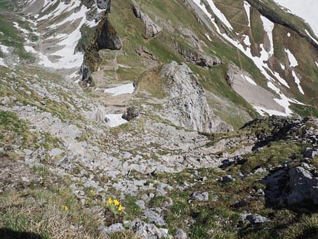 Steepness, Steep, Trail, Mountains, Alpine