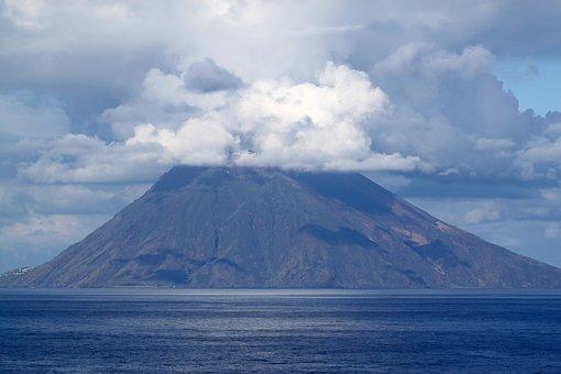 Large, Stromboli, Volcano, Italy, Hot, Sulfur, Volcanic