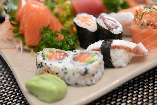 Sushi, Sashimi, Japanese, Food, Seafood, Fish, Salmon