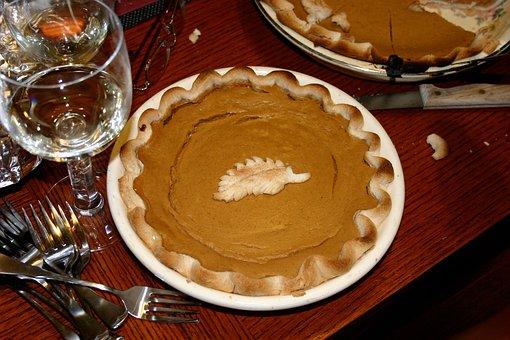Pie, Pumpkin Pie, Thanksgiving, Fall, Dessert, Baked