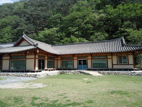 Mountain, Hanok, Architecture, Traditional Flooring