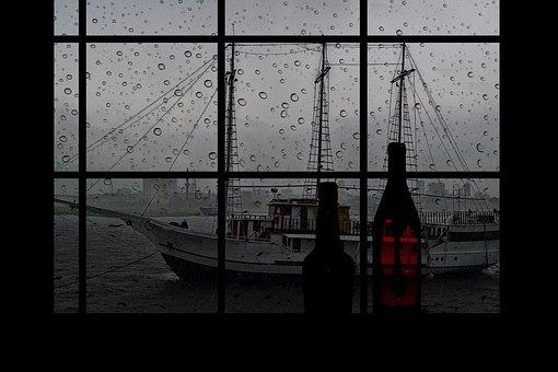 Rain Drops, Ship, Old, Vessel, Transportation, Vintage