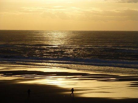 Sunset, Lincoln City, Oregon, Coast, Beach