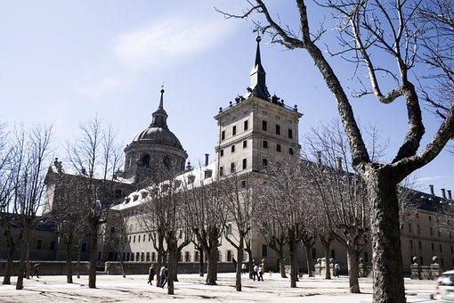 El Escorial, Madrid, Blue, Stone, History, Dump