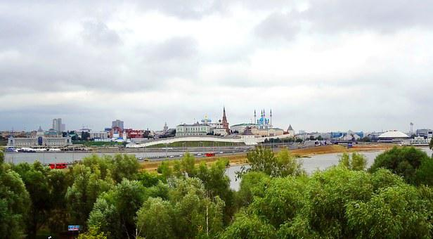 Tatarstan, Kazan, City, Clouds, Landscape, Russia, Sky