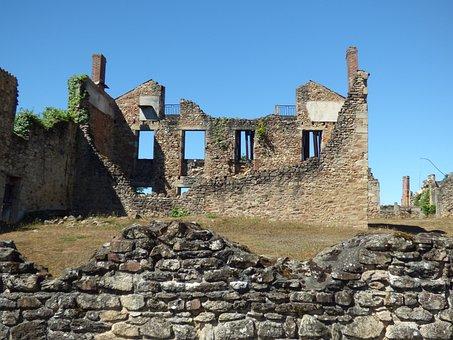 Oradour-sur-glane, War, Destroyed, Village, Destruction