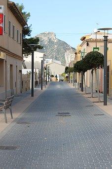 Pedestrian Zone, City, Spain, Downtown, Facades, Summer