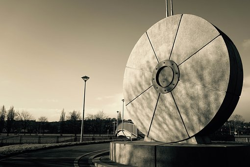Exeter, Mill Stone, Black And White