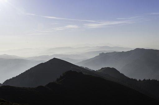 Mountain, Cloud, Sky, Sunlight, Spring, Forest, Rain