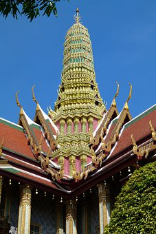 Temple, Thailand, Buddhism, Gilded, Asia, Art From Asia