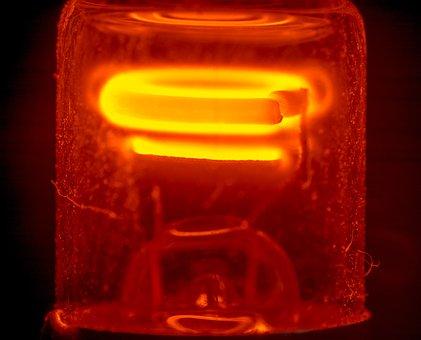Glow Lamp, Light, Light Bulb, Glow, Filament, Glow Wire