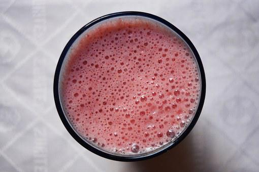 Smoothie, Strawberry, Texture, Bubbles, Fruit, Healthy