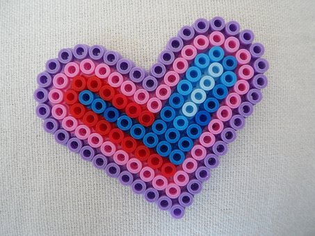 Heart, Mother's Day, Love, Ironing Beads, Beads, Child