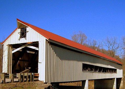 Bridge, Covered, Travel, Enclosed, Historic, Structure