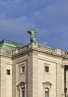 Hofburg, Neue Burg, Vienna, Statue, Bronze, Palace