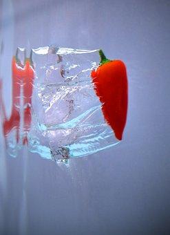Pepper, Red, Chilli, Vegetable, Ingredient, Splash