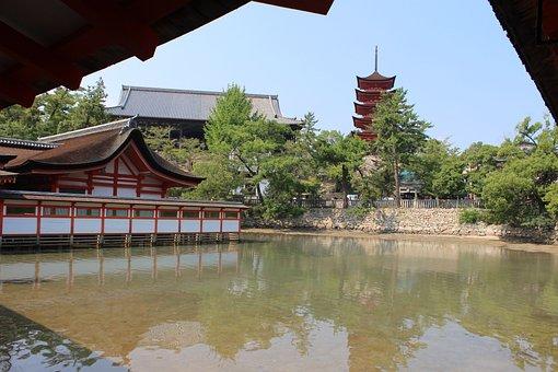 Itsukushima Shinto Shrine, Miyajima, Shrine, Japan